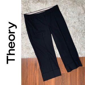🆕 Theory Cropped Stretch Wool Trouser